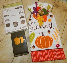 Hi Everyone! Stampin' UP!'s Acorny Thank You Bundle makes a fun accent for a Thanksgiving Hostess Thank You!  Happy Crafting!~Dee