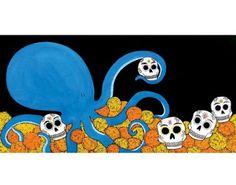 Dia de los Muertos Octopus!