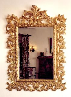 Loving this gold Baroque mirror