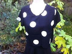 Black Top With White Spots And Cap Sleeves From Atmosphere | eBay