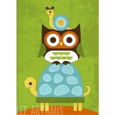 snail-owl-turtle