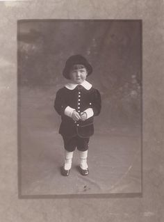 My dad in 1915. Three years old.