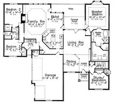 Home Plans HOMEPW15782 - 2,875 Square Feet, 4 Bedroom 3 Bathroom Traditional Home with 3 Garage Bays