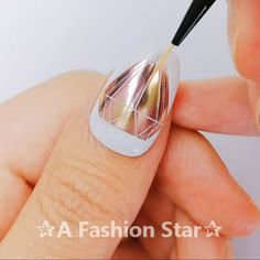 10 Beautiful Nail Designs - Nail Art - A Fashion Star Nail Art Hacks, Gel Nail Art, Nail Art Diy, Diy Nails, Swag Nails, Acrylic Nails, Manicure, Nail Art Designs Videos, Nail Design Video