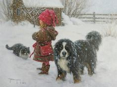 Robert Duncan Limited Edition Canvas Giclee Editions Gallery Direct Art is your Fine Art Gallery for Robert Duncan Limited Edition Canvas Giclee Editions Questions? Please call - Robert Duncan Gallery Winter Szenen, I Love Winter, Winter Magic, Winter Time, Winter Walk, Robert Duncan Art, Illustrations, Illustration Art, Snowy Day