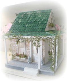 shabby chic doll houses | The Shabby Chic Farmhouse Dollhouse