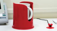 A customizable cup holder with powerful suction to stick on your desk. Sticky Pads, Drink Holder, My Cup Of Tea, Gadget Gifts, Source Of Inspiration, Cool Things To Buy, Tea Cups, Gadgets, Mugs