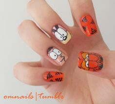 Garfield nail art