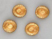 LINE VAUTRIN, ensemble de quatre boutons en bronze