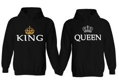 Couple Hoodie - King & Queen Matching His and Her Hoodies
