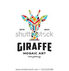 Find Giraffe Head Mosaic Art Style Logo stock images in HD and millions of other royalty-free stock photos, illustrations and vectors in the Shutterstock collection. Giraffe Head, Animal Logo, Mosaic Art, Royalty Free Photos, New Pictures, Logo Design, Templates, Logos, Style