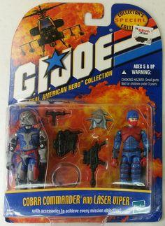 GI JOE ARAH cobra Commander Laser Viper  2 pack Action figure