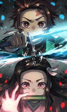 Demon Slayer: Kimetsu No Yaiba manga online Otaku Anime, M Anime, Fanarts Anime, Anime Demon, Anime Characters, Anime Art, Manga Anime Girl, Anime Chibi, Kawaii Anime