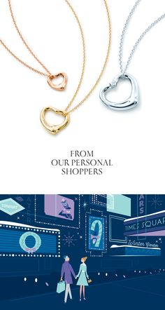 An Elsa Peretti® Open Heart pendant could make her holiday perfect. #ATiffanyHoliday