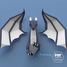 Dragon de basse poly papercraft 3D dragon dragon DIY