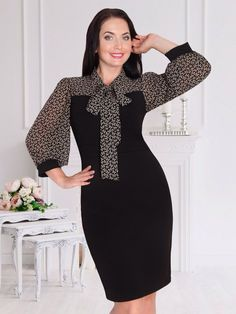 Dot Dress, Dress Skirt, Bodycon Dress, Modest Fashion, Hijab Fashion, Fashion Outfits, Simple Dresses, Dresses For Work, Latest African Fashion Dresses