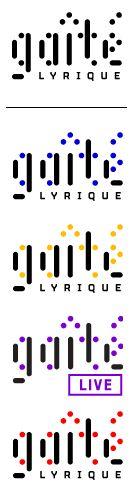 """Le logo de la gaîté Lyrique exprime, par l'utilisation de points, l'univers multi-culturel de l'établissement: c'est un ensemble qui créée la forme, la typographie. Les verticales sont restées des barres pleines pour créer un contraste avec les points: une dynamique se forme mais reste adouci par des terminaisons arrondies. La Gaîté Lyrique est un lieu où """"ça bouge"""" disent les points. C'est un lieu pour """"tout le monde"""" disent les déclinaisons colorées. Élie - www.gaite-lyrique.net"""