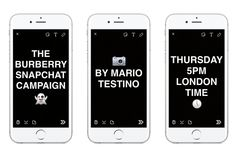 WWD: Burberry tapped Mario Testino to shoot images and video for a Snapchat campaign.