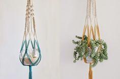 Casa Cafeína | Decoração, DIY e arquitetura: DIY: Suporte de plantas em macramê