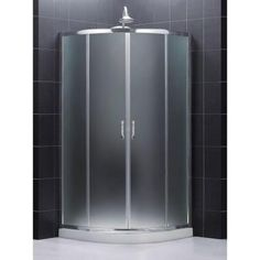 dreamline prime 38 in x 38 in x in framed sliding shower enclosure in chrome with quarter round shower base