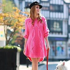 Buy 'Dabuwawa � Pompom-Accent Sweater Dress' with Free International Shipping at YesStyle.com. Browse and shop for thousands of Asian fashion items from China and more!