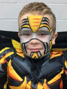 Face Paint | Orlando Face Painters | Colorful Day Events - transformers bumblebee face paint