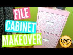 EASY DIY FILE CABINET MAKEOVER - YouTube