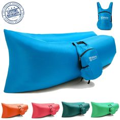 BagMate Outdoor Inflatable Lounger - Includes Carry Bag with Multiple Pockets by Rhino Products - Comfortable Lay Bag Sofa, Air Hammock, Pool Float, Convenient lounge Couch Perfect for Beach and Camping -- For more information, visit now : Air Lounges