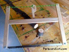 Paracordist Creations LLC: DIY Folding Buck Saw Details & New Never Before Seen Buck Saw design!