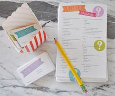 Great preteen/teen birthday party activity, All About _____ Questionaire