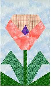 Paper-pieced flowers - Calla Lilly and Poppy Paper Pieced Quilt Patterns, Quilt Block Patterns, Pattern Paper, Quilt Blocks, Iris Folding Pattern, Poppy Pattern, Summer Quilts, Flower Quilts, Foundation Paper Piecing