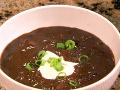Get this all-star, easy-to-follow Spicy Black Bean Soup recipe from Patrick and Gina Neely