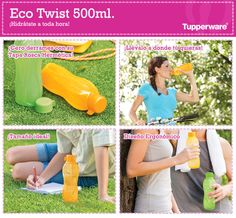 Nuestros famosos Eco Twist Tupperware, tienen colores increíbles y vibrantes perfectos para esta temporada ¡Pide el tuyo!
