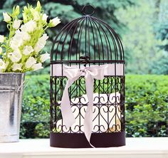 Scrolling Heart Birdcage Card Holder #theweddingoutlet
