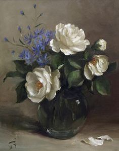 Susie Philipps: Still Life and Flower Paintings - Malerei Oil Painting Flowers, Pour Painting, Flower Paintings, Art Floral, Flower Vases, Flower Art, Pink Trees, Painting Still Life, Pictures To Paint