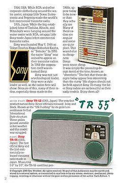 SONY vintage transistor radios book TR-52 TR-55 TR-5 TR-2K TR-33 TR-63 TR-86 TR8 3