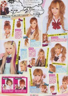 Egg Magazine - New Sites Gyaru Hair, Gyaru Makeup, Hair Makeup, Lolita Hair, Cool Hairstyles For Girls, Kawaii Hairstyles, Cute Hairstyles, Gyaru Fashion, Harajuku Fashion