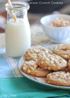 Vanilla Macaroon Crunch Cookies, no butter!  Uses Coconut Oil.