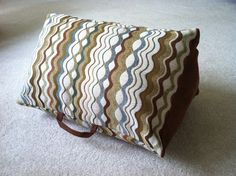 Cheese wedge pillow - support your legs & back with this useful triangle design.