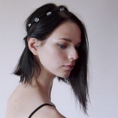 UrbanPrincess headband ,bracelet, crown and necklace in one with Rock Crystal from Violent Mist #headband #hairpiece #headpiece #crown #rockcrystal #violentmist #necklace