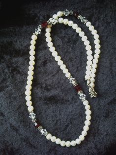 Freshwater pearl and bead necklace with sterling silver clasp 18 inches long #Unbranded #StrandString