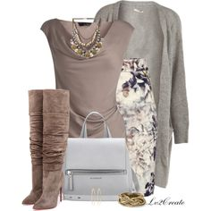 A fashion look from December 2014 featuring Amanda Wakeley tops, Pieces cardigans and H&M skirts. Browse and shop related looks.