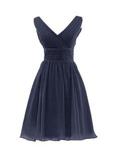 Dresstells Short V-neck Ruched Lace Up Bridesmaid Dresses Party Dresses for Juniors Size 2 Navy Dresstells http://www.amazon.com/dp/B00KNQXI7S/ref=cm_sw_r_pi_dp_ODaTub0AGAPWS