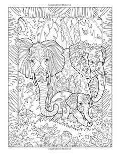 Amazon.com: The Art of Marjorie Sarnat: Elegant Elephants Adult Coloring book…