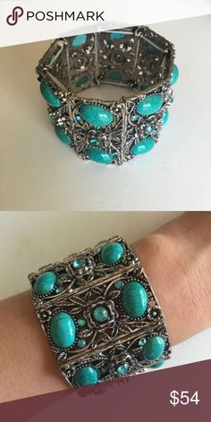 NWT Classy & Versatile Bracelet LOVE this bracelet.. Elegant and unique with a touch of vintage. Stretchy/flexible. 18k plated metals. Nickel free and lead free.   ✍🏼PRICE FIRM unless bundled with other listings of similar price   📮📦 DISCLAIMER 😘: Most of my boutique items ship within 4 to 6 days from purchase.  All sales are final.  Free 🎁 with any purchase T&J Designs Jewelry Bracelets