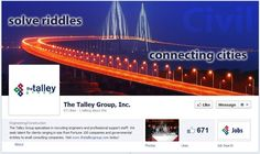 The Talley Group rebranded their Facebook page with updated graphics - looks great! Their social sharing is also a great example of how to engage job candidates and clients on social media. Keep up the good work!