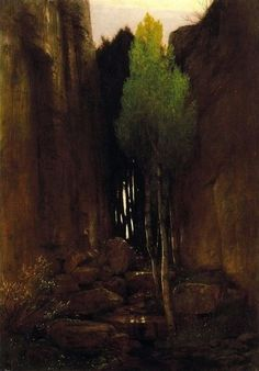 Spring in a Narrow Gorge, Arnold Böcklin ( 1827-1901. Swiss Symbolist рainter
