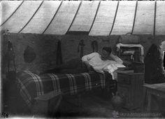 FOTOGRAFIA DE CRISTAL NEGATIVO DE MILITAR EN LA GUERRA DEL RIF MARRUECOS 1910