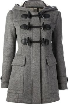 Burberry Brit hooded duffle coat on shopstyle.com