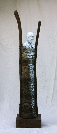 Sculpture by William Catling. Ceramic-wood-wire
